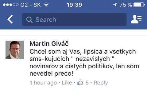 Ešte v piatok pri zverejnení informácie o povýšení Pavla Pašku reagoval Glváč komentárom, že by povýšil aj novinárov, keby mal dôvod.