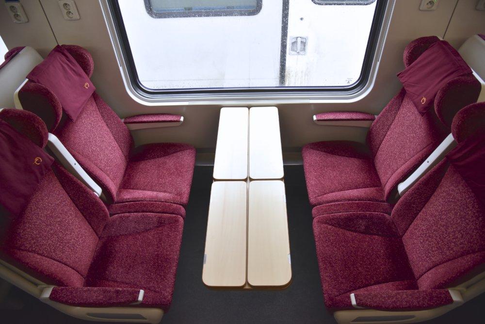 Interiér štátneho IC vlaku. foto - tasr