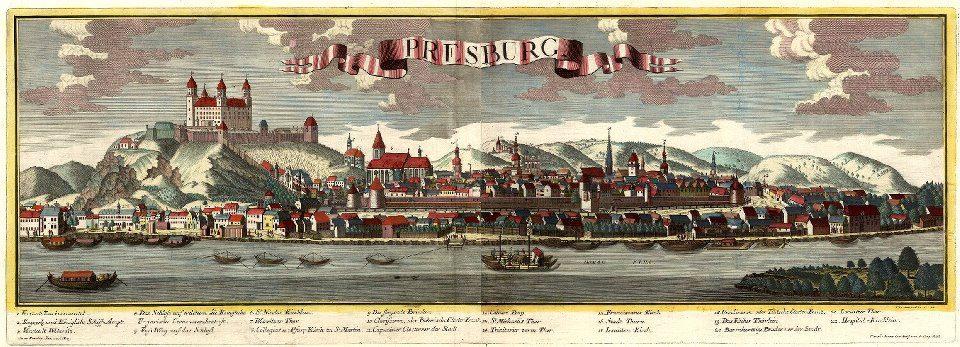 Prešporok v 18. storočí.
