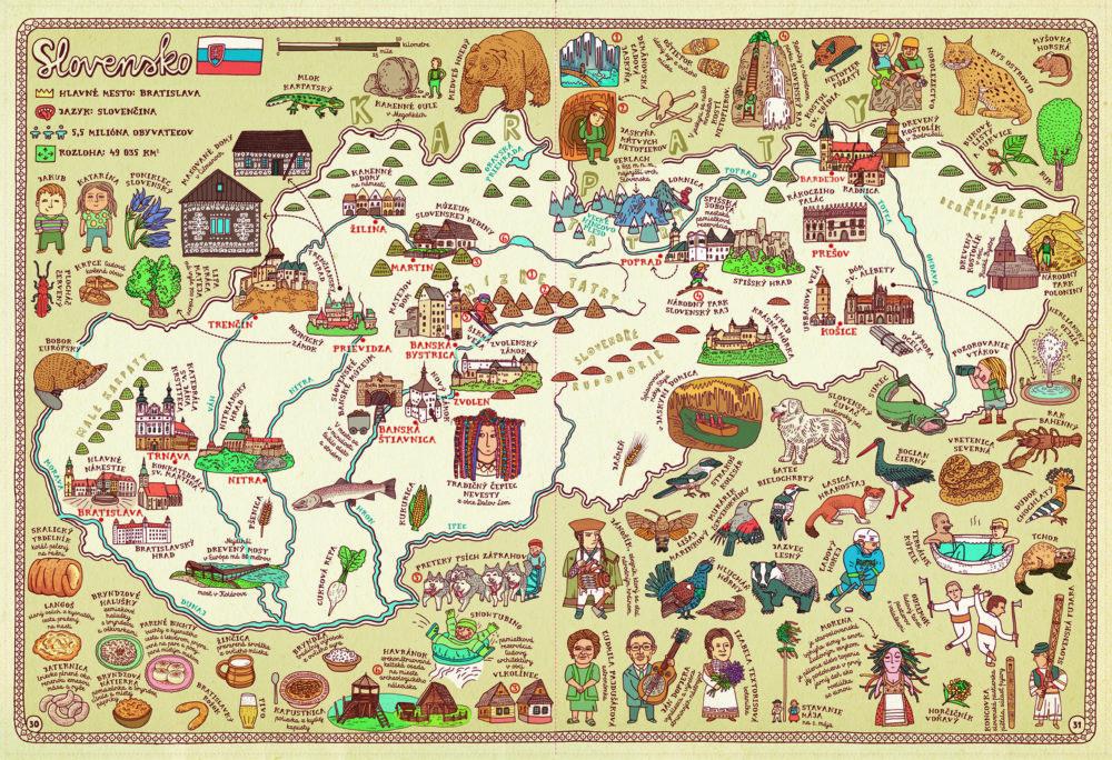 Na mapu Slovenska sa autori tešili. Foto N - Tomáš Benedikovič