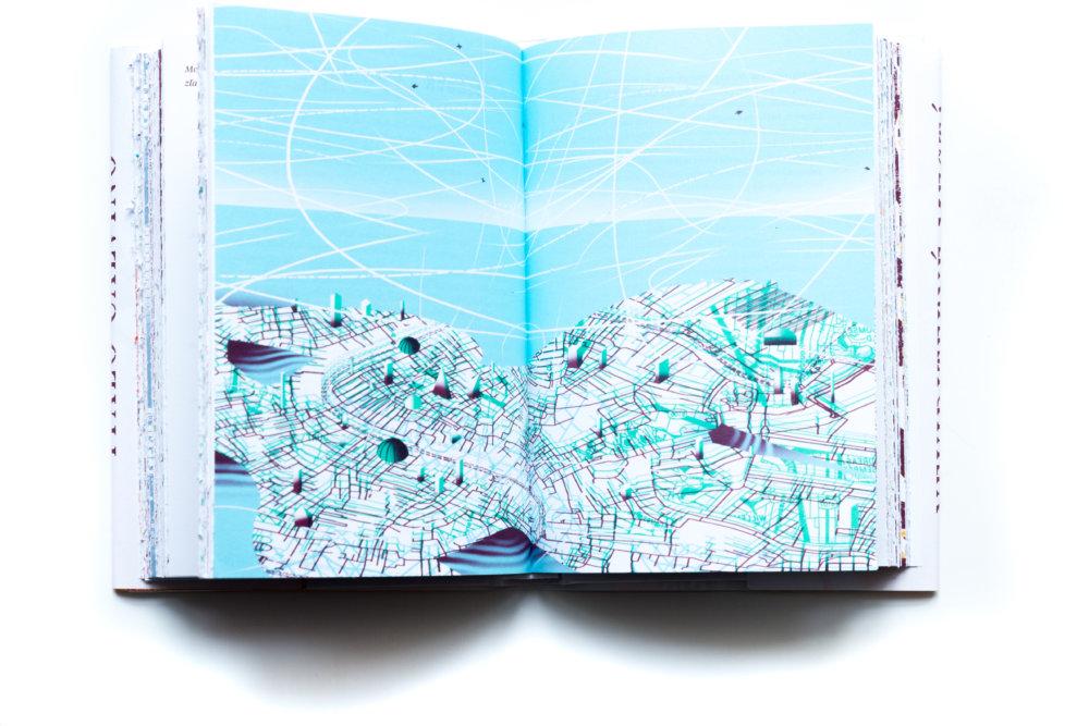 Výsledkom je striedanie textu a dvojstranových ilustrácií. Je to kniha, ale zároveň aj galéria s trvalou výstavou. Foto – Jakub Kratochvíl