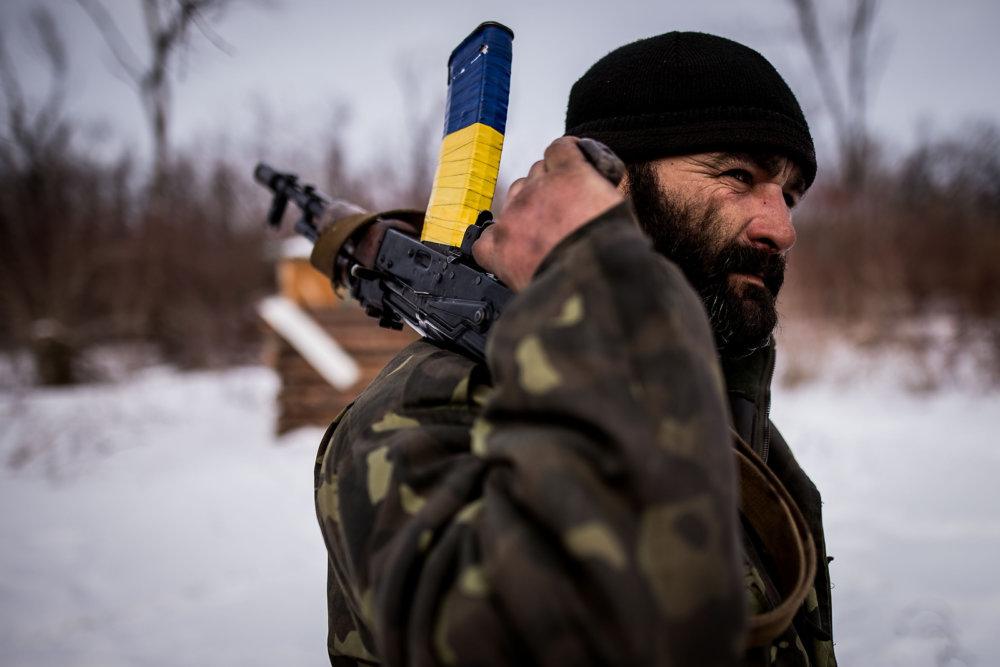 Na ukrajinských pozíciach.Foto N - Vladimír Šimíček