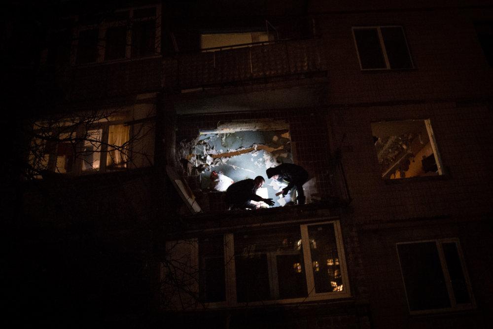 Zbombardovaný obytný dom v Avdijivke. Foto N – Vladimír Šimíček