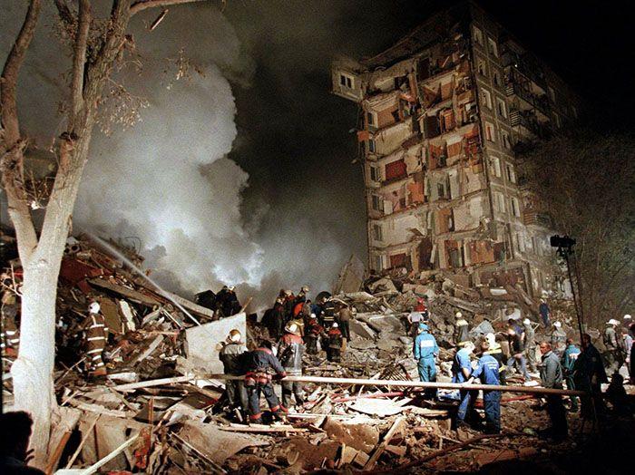 Vládne bombové útoky na vlastných obyvateľov, Moskva 1999.