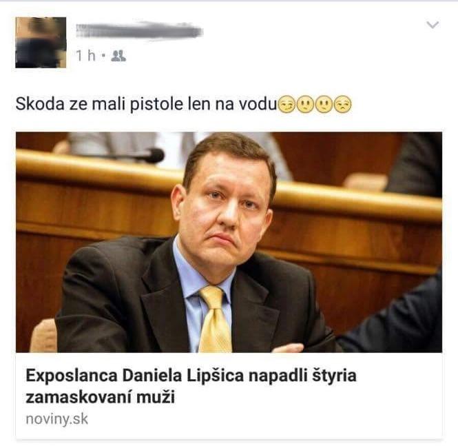 Status, pre ktorý ministerka spravodlivosti Lucia Žitňanská prikázala prepustenie pracovníka väznice. Reprofoto - Facebook