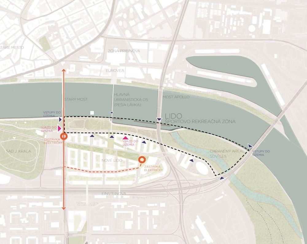 Územie, ktoré sa nachádza v novom architektonickom pláne Nové Lido. Foto - Ateliér Compass