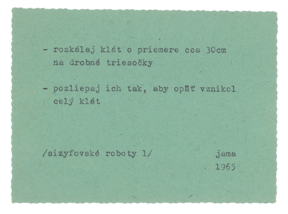 jama (Milan Adamčiak): Zo série Sizyfovské roboty. 1965. SNG, Bratislava