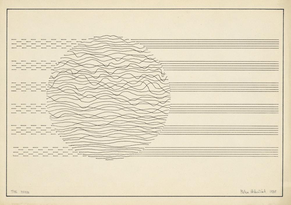Milan Adamčiak: Mesiac. 1971. Zbierka Linea