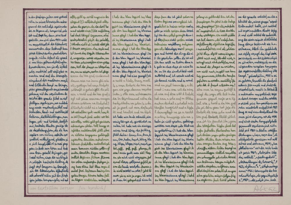 Milan Adamčiak: Um Textrühm herum (ein Lesestück). 1975. SNG, Bratislava