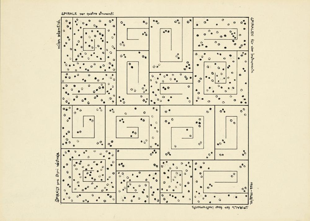 Milan Adamčiak: Špirály. 1968. Súkromná zbierka