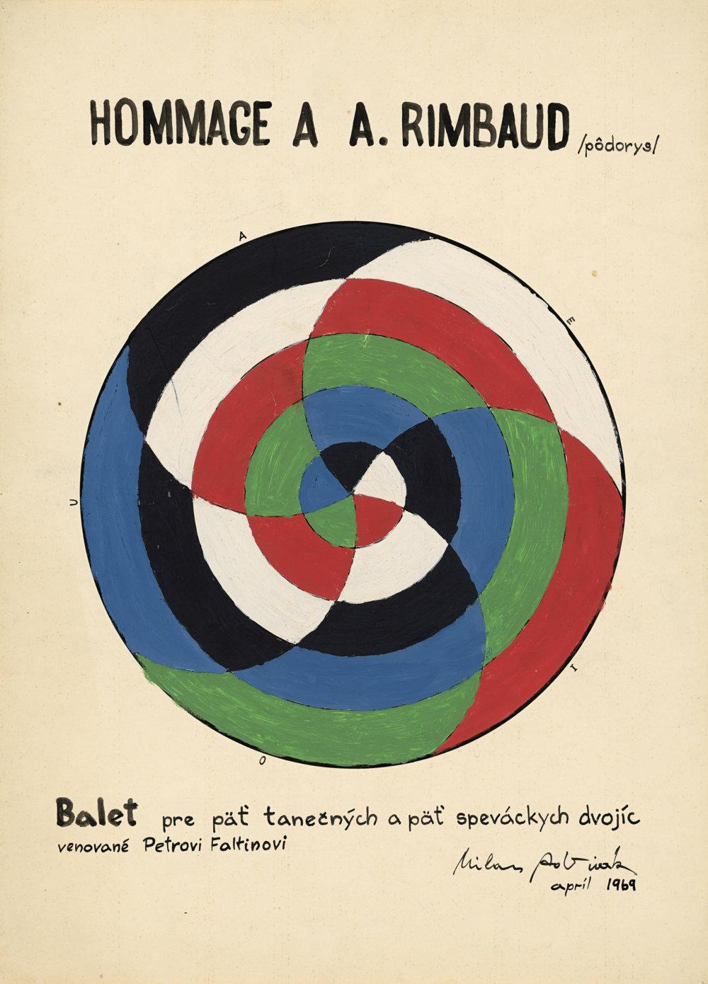 Milan Adamčiak: Hommage à A. Rimbaud. 1969. Súkromná zbierka, Brno