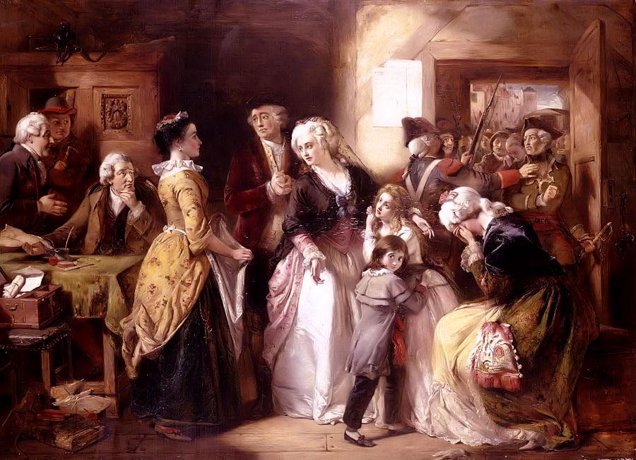 Arrest Of Louis XVI & His Family At House Of Registrar of Passpo