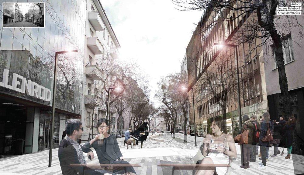 Radikálny názor, ktorý predpokladá úplne vylúčenie dopravy z Mickiewiczovej ulcie a vytvorenie pešej zóny.