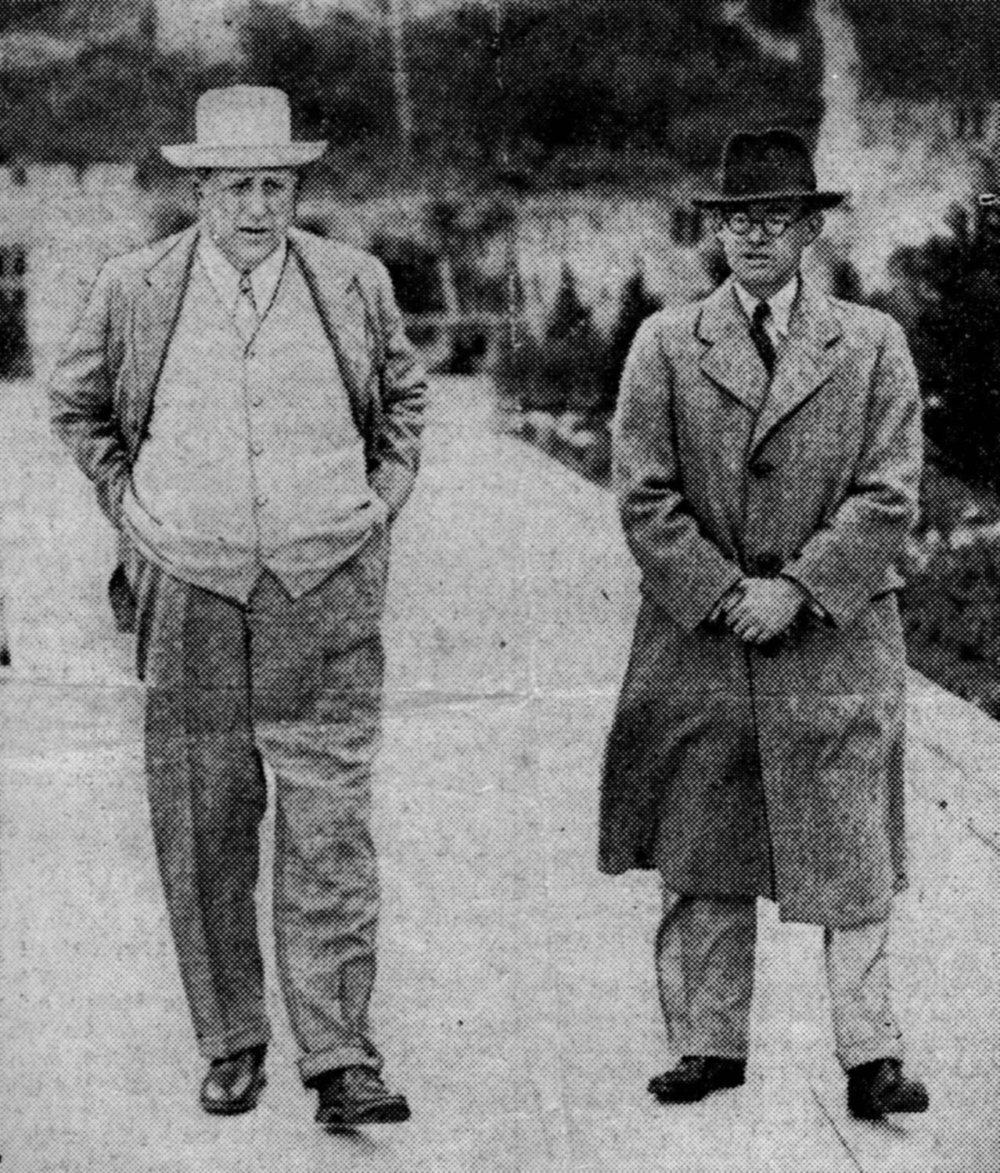 Gareth Jones s Randolphom Hearstom, veľkým mediálnym magnátom tej doby, pre ktorého napísal pár článkov o Rusku. Zdroj - garethjones.org