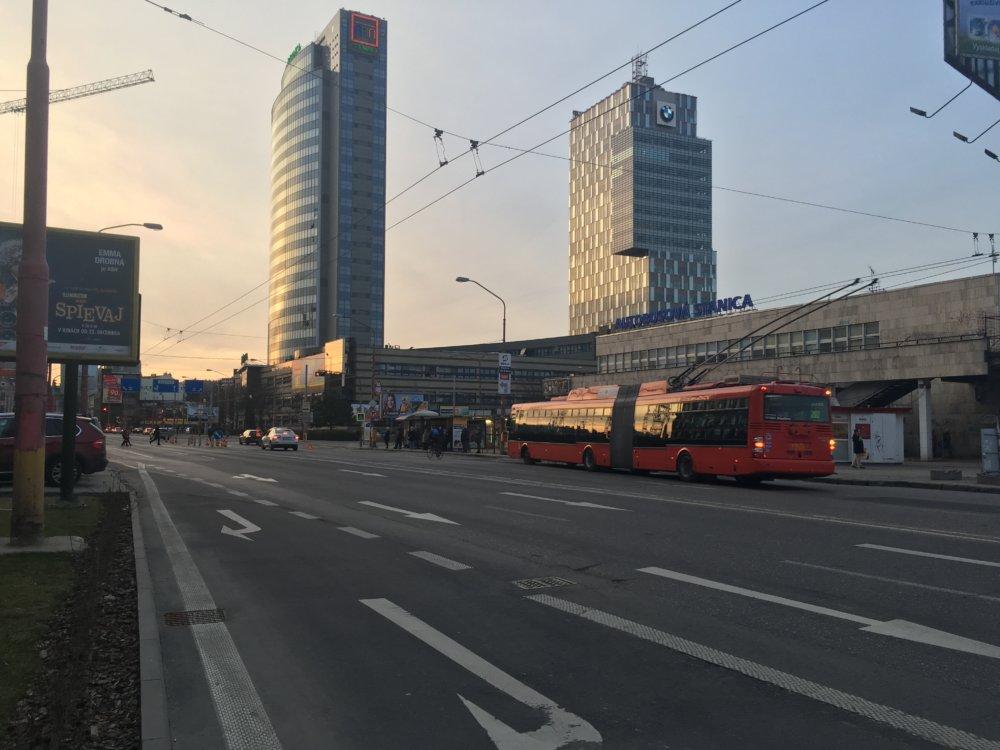 Úsek ulice Mlynské nivy s plánovaným dopravným obmedzením. Foto N - Matej Dugovič