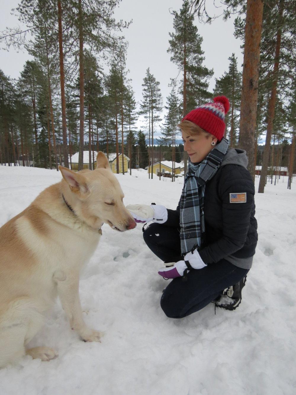 Mari so svojím psom Oivom. Foto - archív M. S.