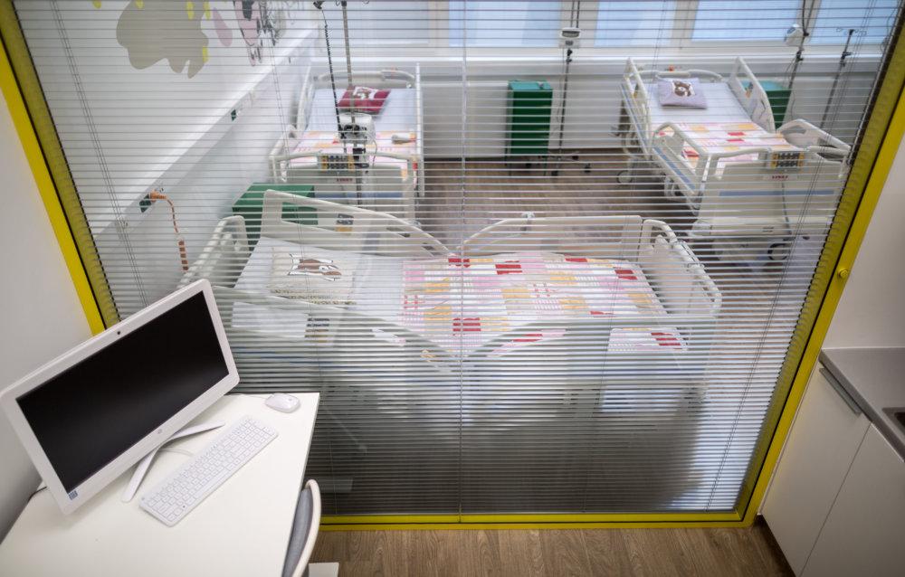 Izolačka - miestnosť pre deti s infekciou alebo bez imunity. Foto N - Tomáš Benedikovič