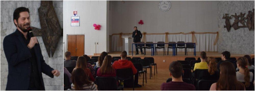 Jozef Bátora na gymnáziu. foto - škola