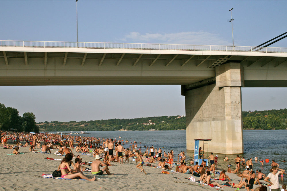 Pláž Strand na Dunaji v srbskom meste Novi Sad. Foto - Таjra/Wikimedia