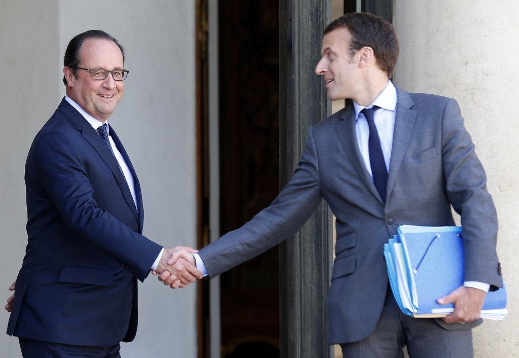 Hollanda možno nahradí jeho bývalý minister hospodrástva Macron. Foto - TASR/AP