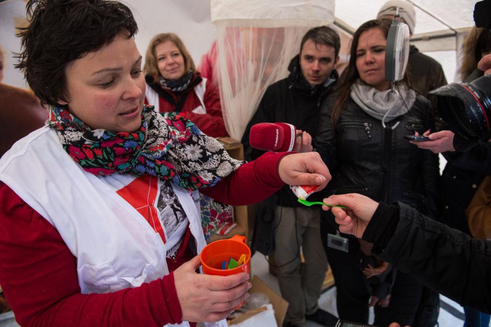 Strava pre podvýživené deti. Foto Denník N - Vladimír Šimíček