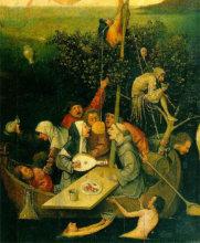 Hieronymus Bosch: Loď bláznov (1490-1500)