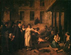Tony Robert Fleury: Doktor Philippe Pinel oslobodzuje bláznov z reťazí (1795).