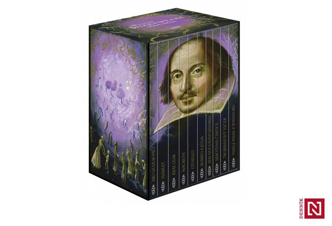 Kolekcia 10 kníh od Williama Shakespeara v darčekovom balení
