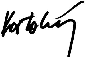 Podpis Matúša Kostolného