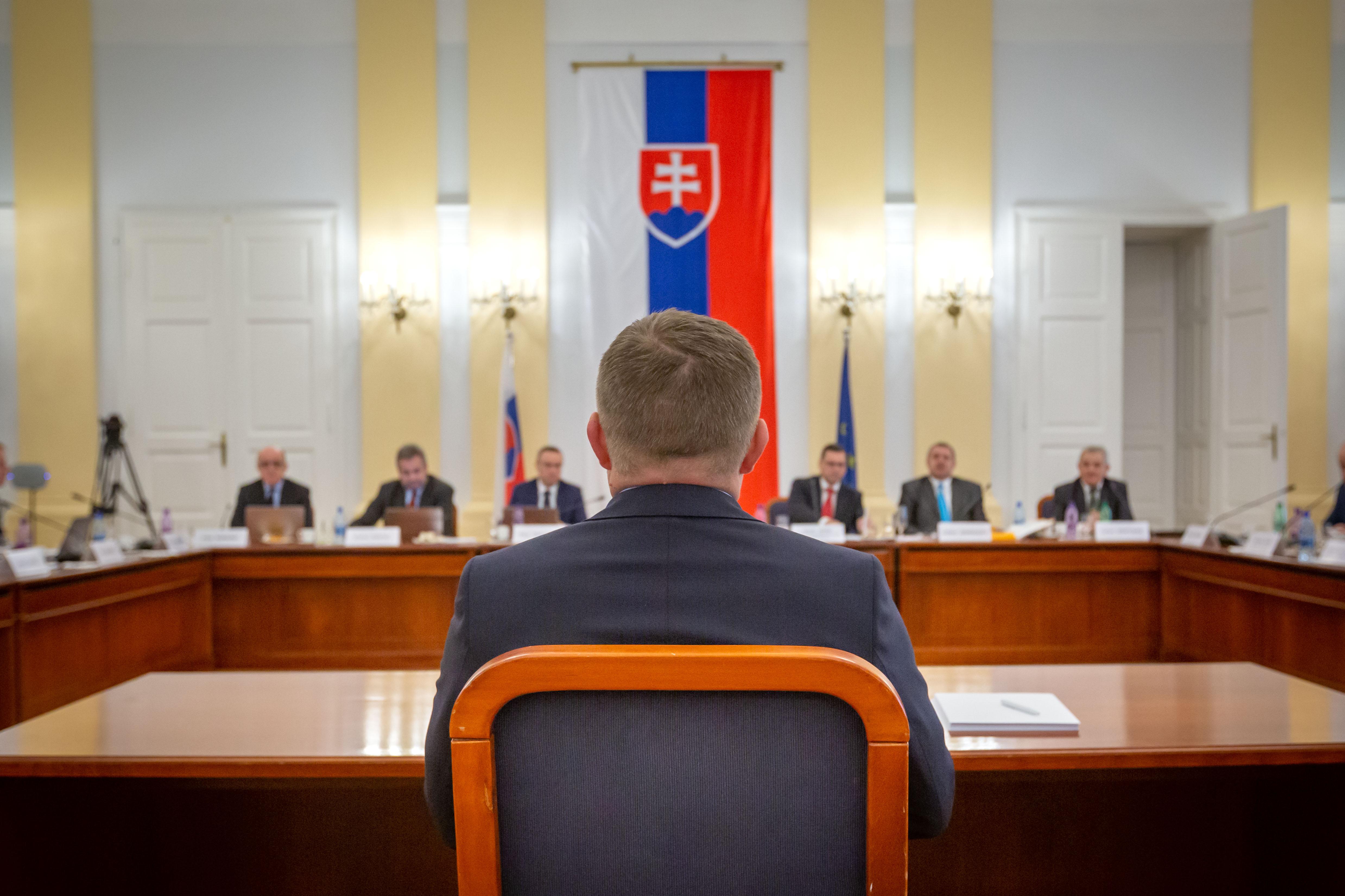 Vypočutie Roberta Fica pred prvým kolom voľby ústavných sudcov. Foto N - Tomáš Benedikovič