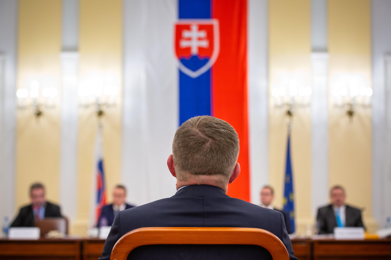 Robert Fico na vypočutí pred ústavnoprávnym výborom. Foto N - Tomáš Benedikovič