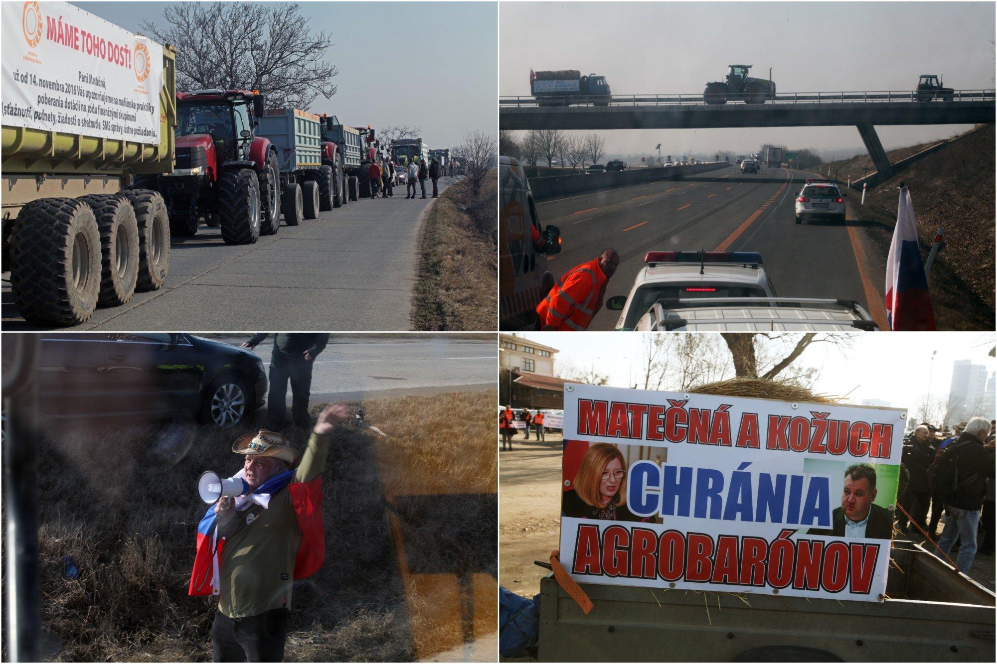 Farmári sa vrátili s traktormi do Bratislavy, Pellegrini ich volá na rokovanie vlády (+ video z cesty) – Denník N