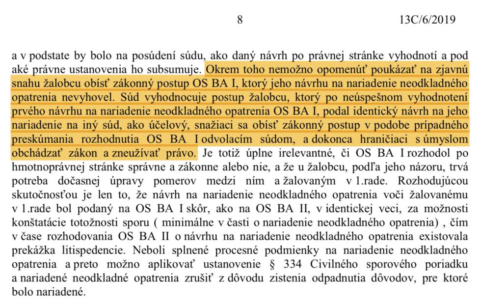 Uznesenie BA II
