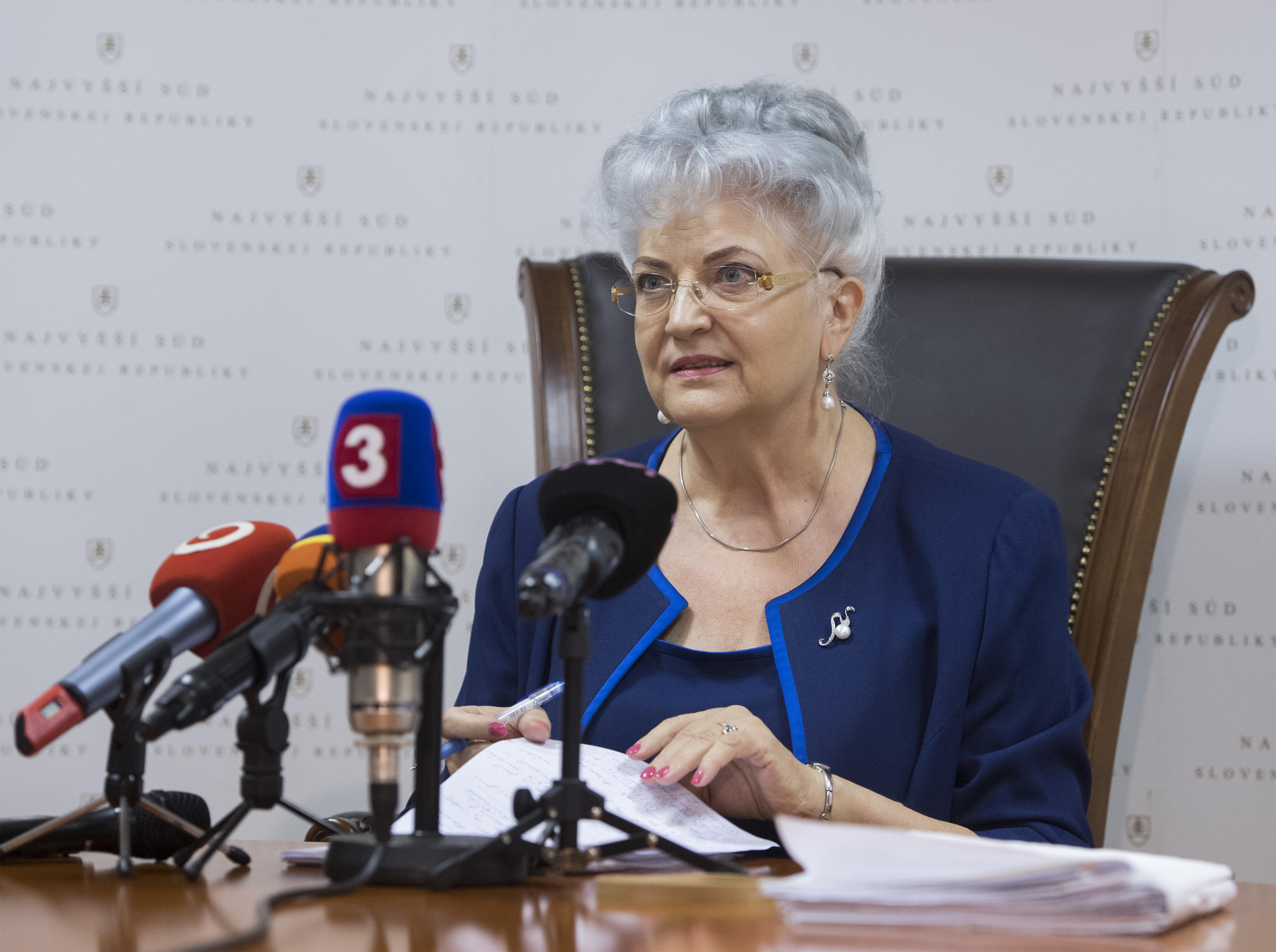Predsedníčka Najvyššieho súdu Daniela Švecová. Foto - TASR