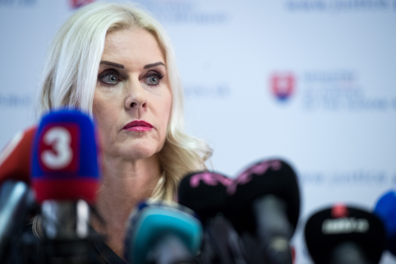 Monika Jankovská oznamuje odchod z funkcie štátnej tajomníčky. Foto N - Vladimír Šimíček