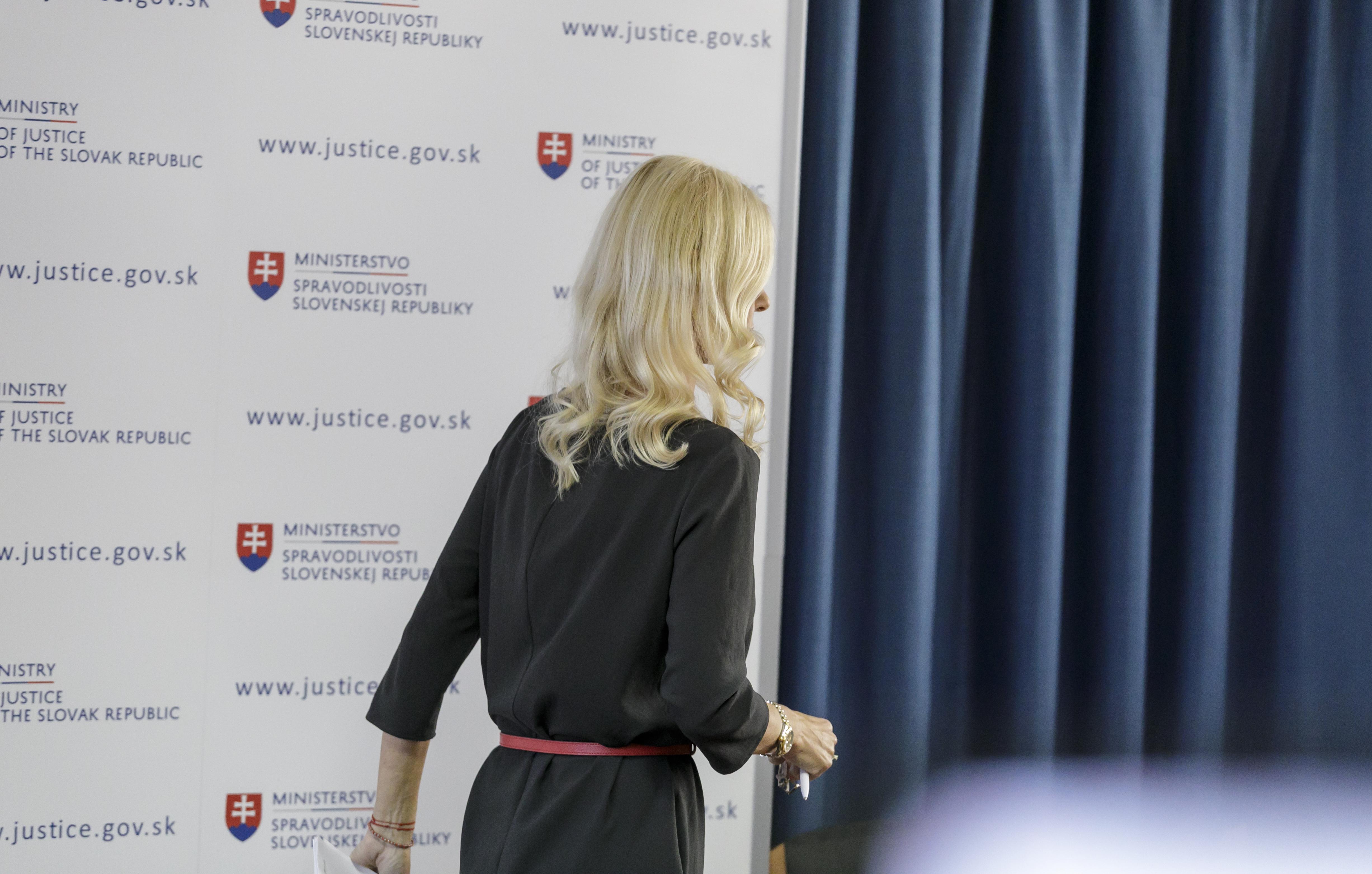 Monika Jankovská po rezignácii na post štátnej tajomníčky. Foto - TASR