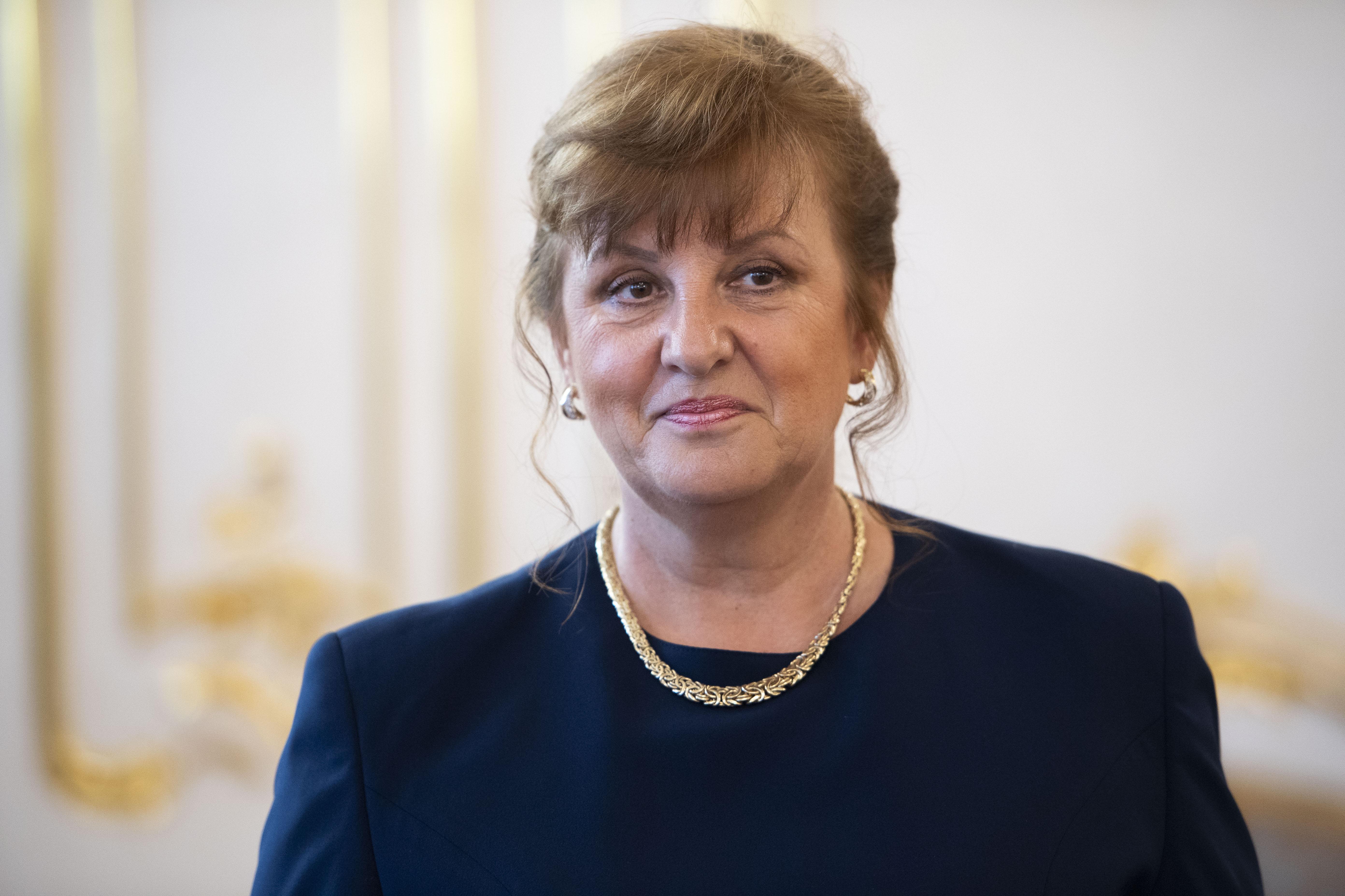 Jarmila Urbancová pri menovaní do funkcie podpredsedníčky Najvyššieho súdu. Foto – TASR