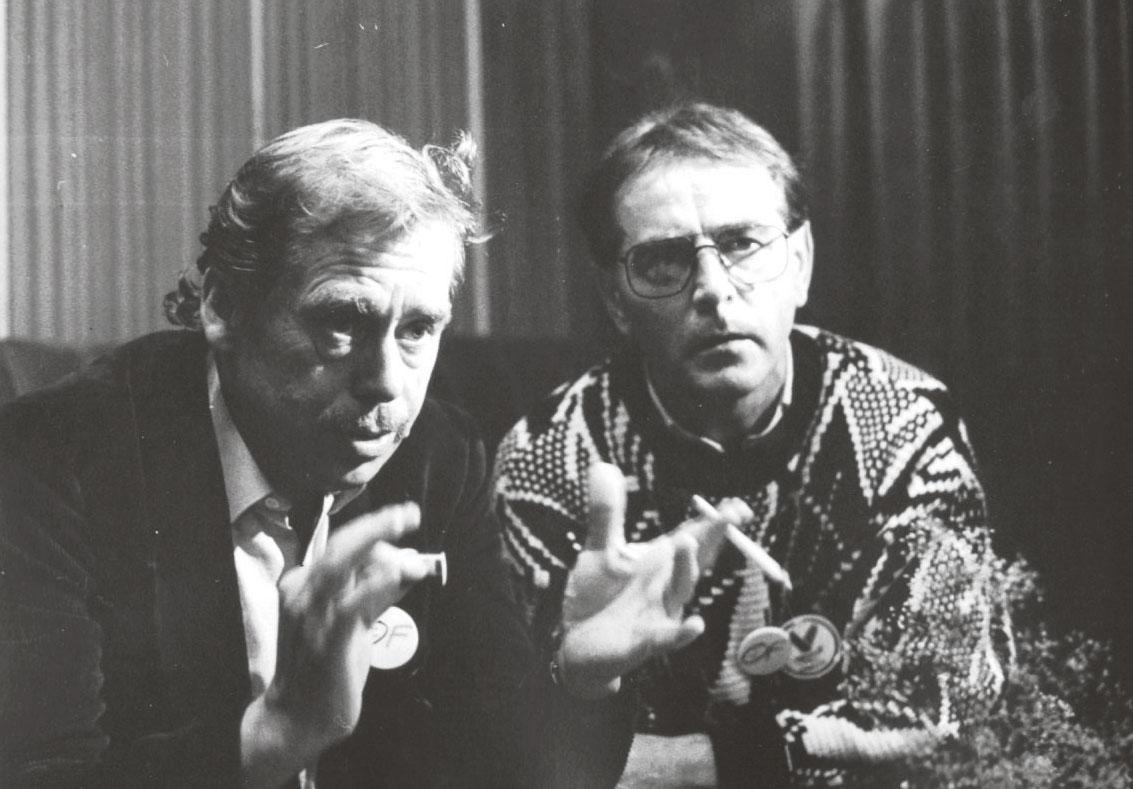 Václav Havel a Mikuláš Ľaš
