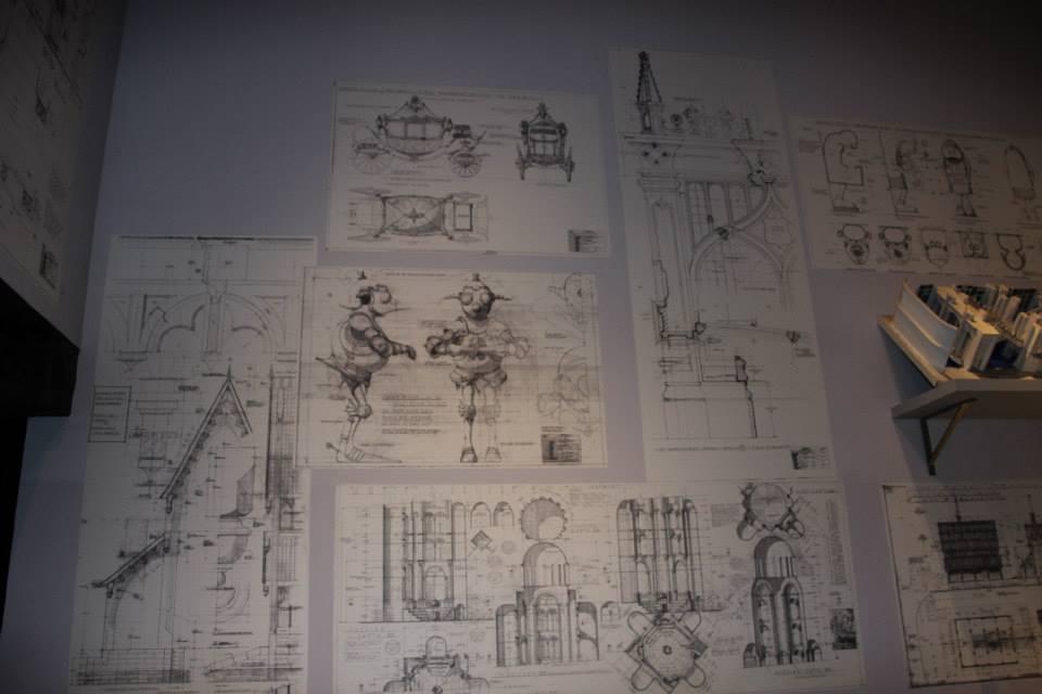Nákresy rekvizít a kulís z predprodukcie Harryho Pottera - Warner Bros Studio Tour London