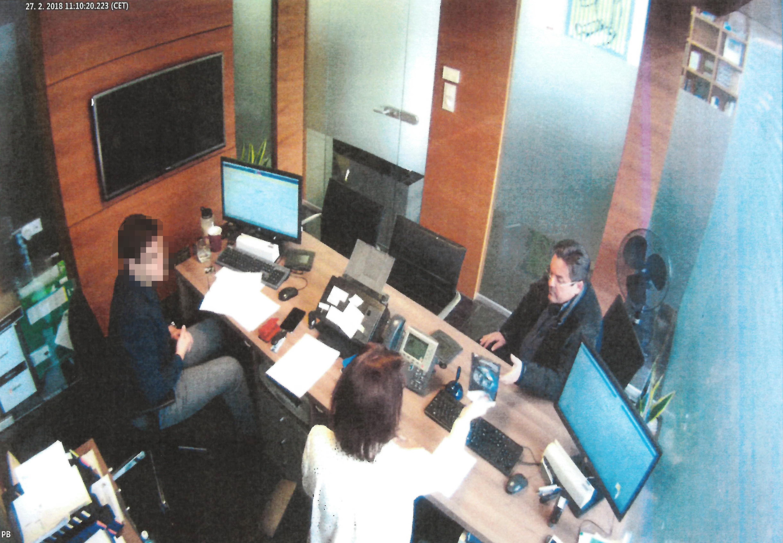 Marian Kočner v Tatra banke deň po zverejnení informácií, že Kuciaka zavraždili. Foto – archív N