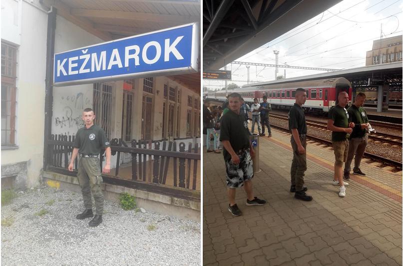 Kotleba a jeho esá vo vlakových hliadkach Hliadky-sp
