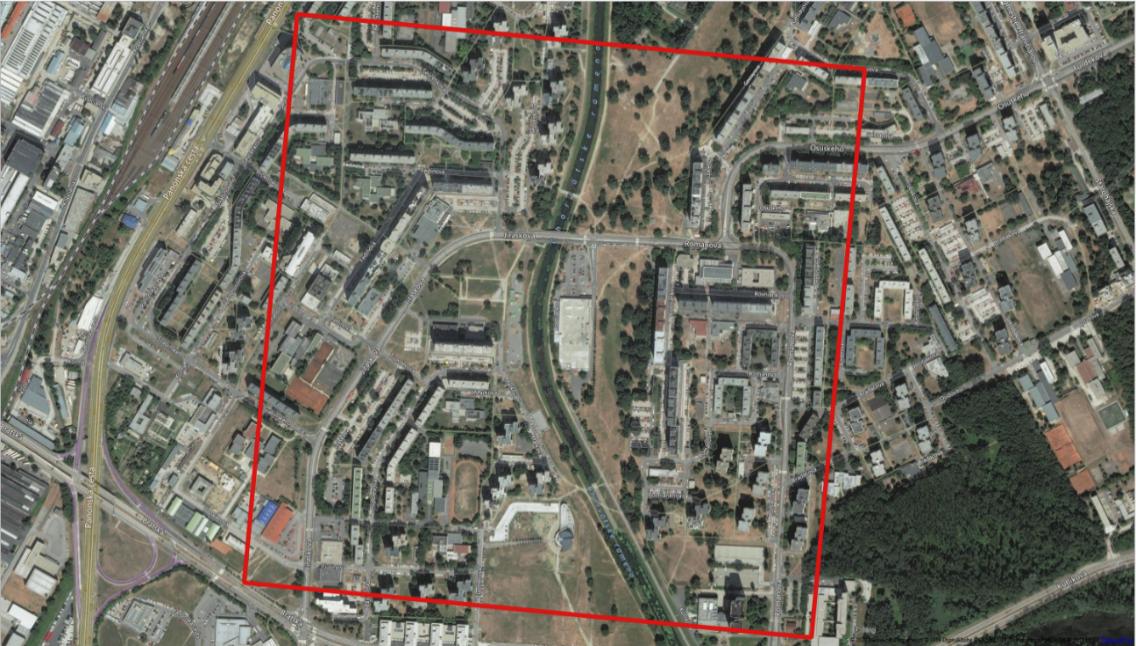 Obrázok 1: TOP 1 raster snajvyšším počtom obyvateľov vBratislave (Petržalka)