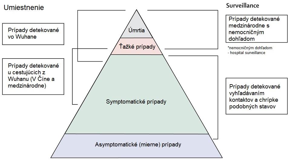 Lancet rozdelenie zachytených pripadov Covid-19