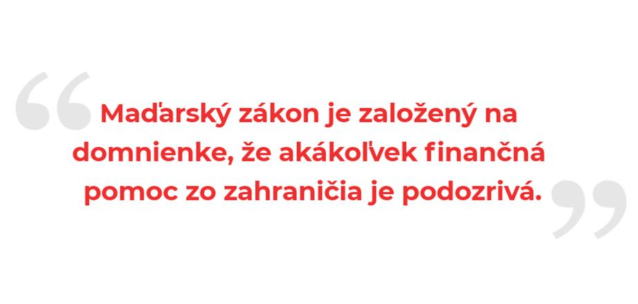 Maďarský zákon je založený na domnienke...