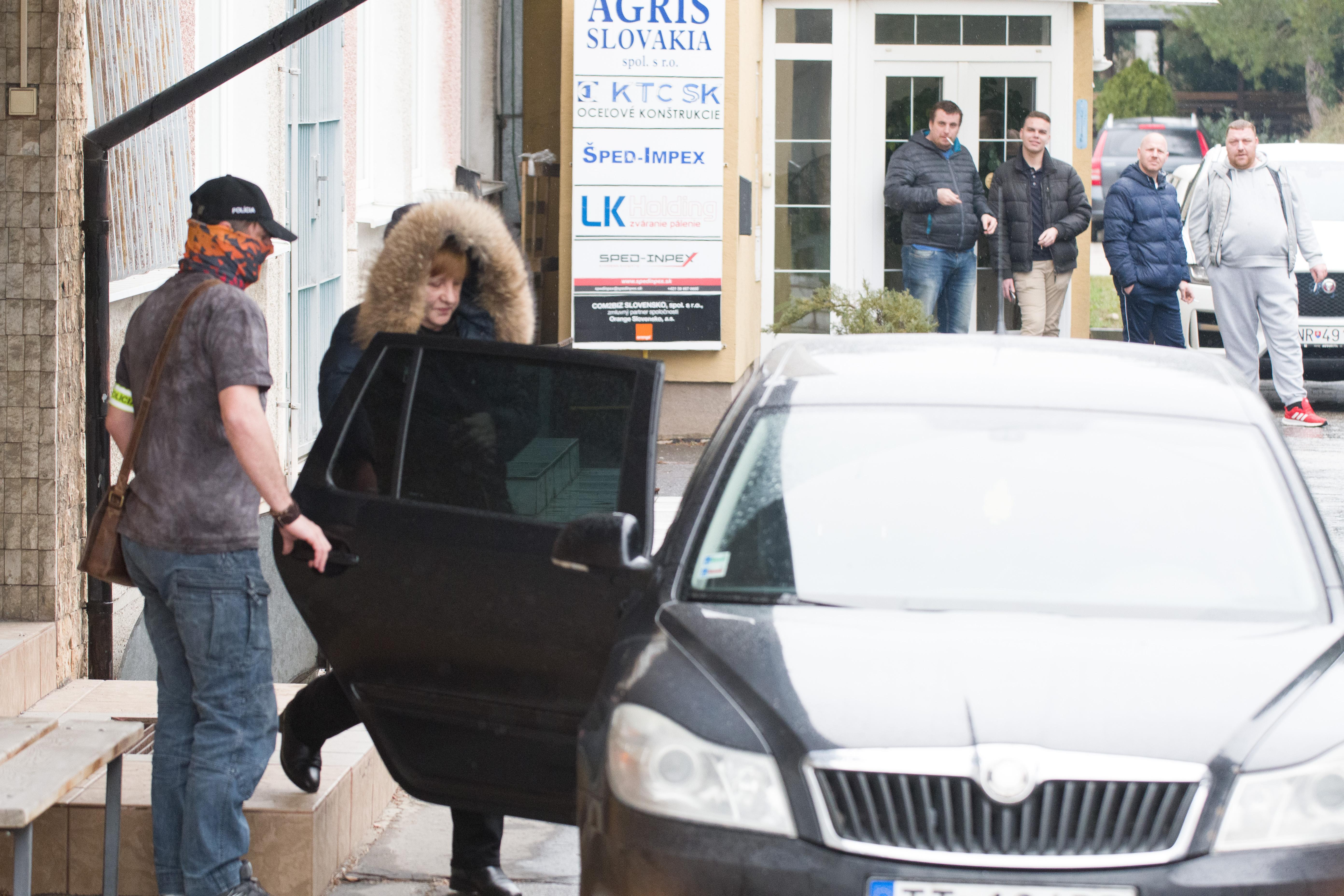 Jarmila Urbancová po zadržaní v rámci akcie Búrka. Foto - TASR