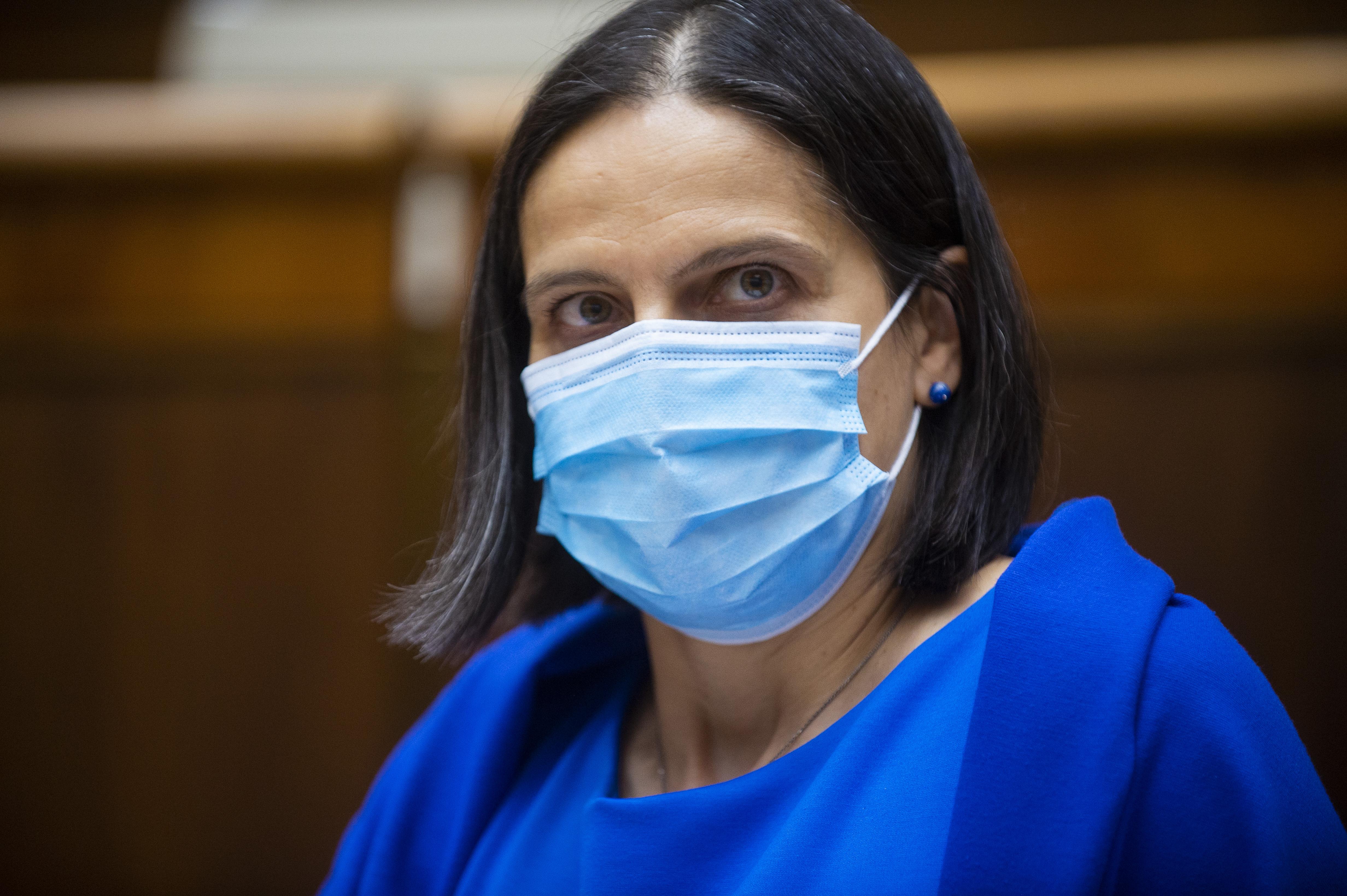 Ministerka spravodlivosti Mária Kolíková počas rozpravy k novele ústavy. Foto - TASR