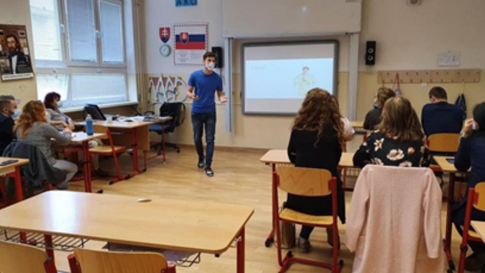 Tomáš Kudla učí na ZŠ Budimír, foto: archív Tomáš Kudla