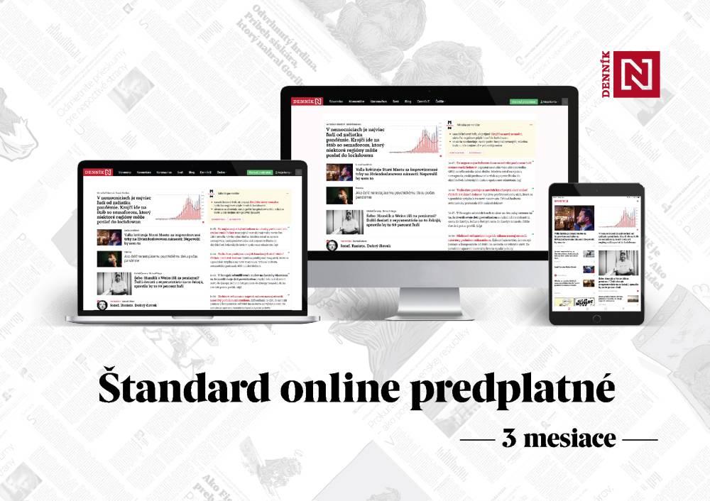 Štandard online predplatné Denníka N - 3 mesiace