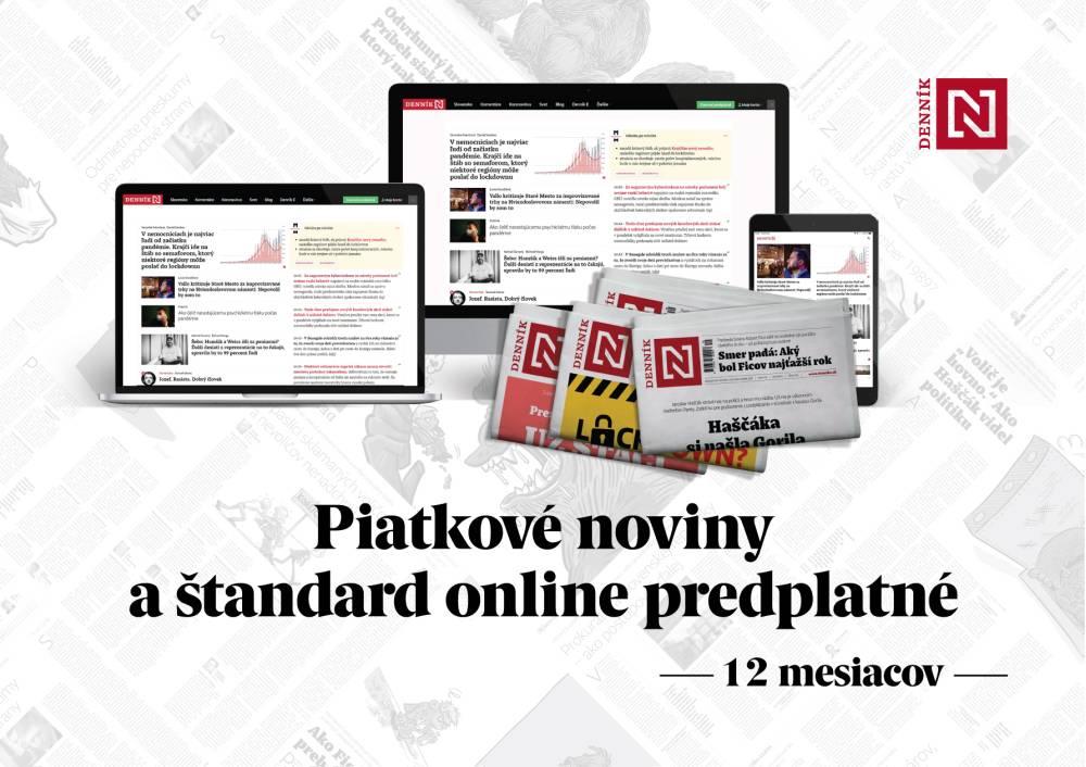 Piatkové papierové noviny a štandard online predplatné