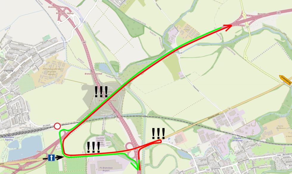 Prepojenie cez Vajnorský podjazd